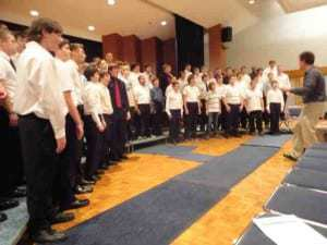 James Estes led the Boys Chorus