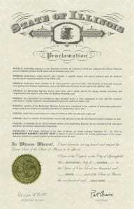 Illinois 2012 Proclamation