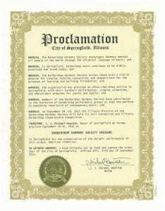 Springfield 2012 Proclamation