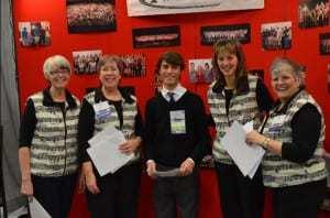 Main Street U.S.A. quartet (Ginger, Jinny, Charity, Debbie) with Tim